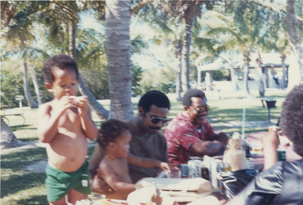 Johnnie, Houston, unknown male, and Johnnie Sr. (Florida-ca. 1970)